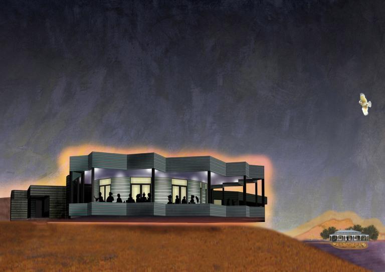 Edmond & Corrigan, Dunkeld Restaurant, Architecture Australia Un