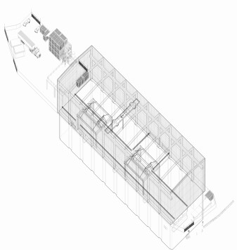 Emma Li, Melbourne Metro Tunnel Metro Shed axonometric